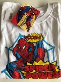 Spiderman-t-shirt-wit-maat-128