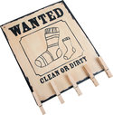 Houten-decoratiebord-;-Wanted-;-`missing-socks