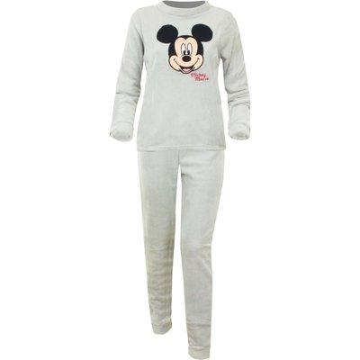 Disney pyjama voor volwassenen Mickey Mouse, licht grijs