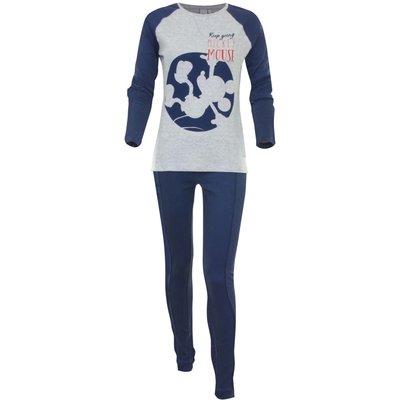 Disney Mickey Mouse pyjama / huispak voor volwassenen blauw/grijs