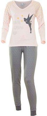 Disney Tinkerbell pyjama / huispak, volwassenen roze/grijs