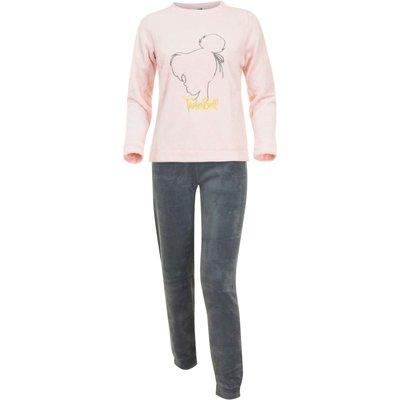Disney Tinkerbell fleece pyjama / huispak, volwassenen, grijs/roze