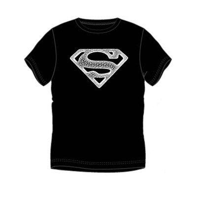 Superman heren t-shirt zwart, met witte logo opdruk