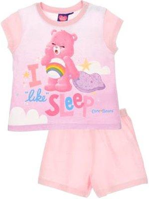 Troetelbeertjes baby shortama, licht roze, div. maten