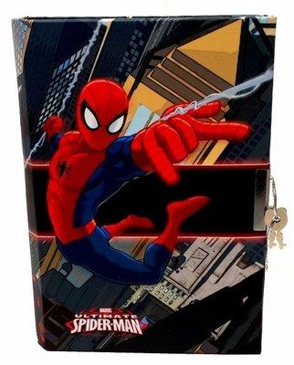 Spiderman dagboekje, met slot