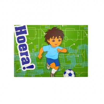 Diego prentkaart voetbal met opdruk ; Hoera