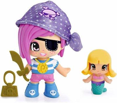 Pinypon piraat poppetje / figuurtje paars met zeemeermin