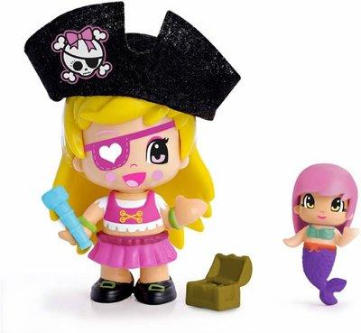 Pinypon piraat poppetje / figuurtje zwart met zeemeermin en acc.