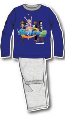 Playmobil kinderpyjama blauw / grijs