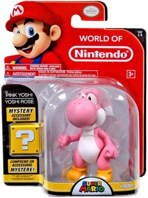 Pink Yoshi figuur in blisterverpakking.