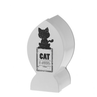 Riverdale snoepblik kat, wit 22 cm