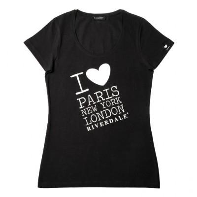 Riverdale dames t-shirt zwart, maat XL