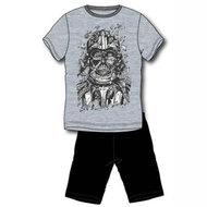Star Wars heren shortama, Darth Vader,  grijs / zwart