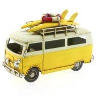 Metalen surf autobusje, geel