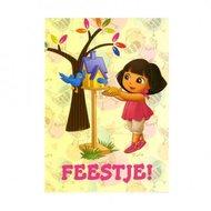 Dora ansichtkaart Feestje !