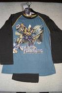 Transformers pyjama blauw maat 102